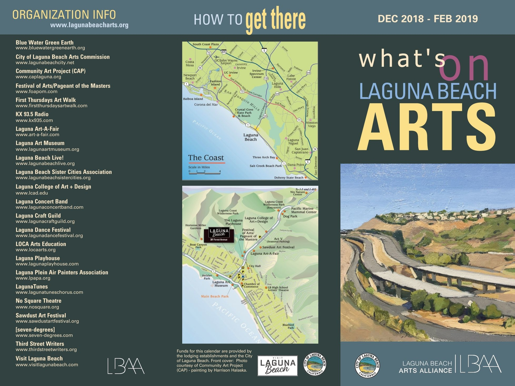 Laguna Beach Arts Calendar December 2018 February 2019